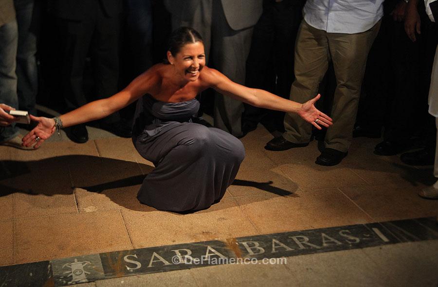 Sara Baras descubre su Lámpara del flamenco