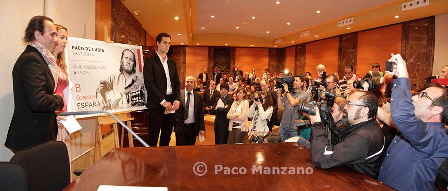 Sello Paco de Lucía. Foto: Paco Manzano