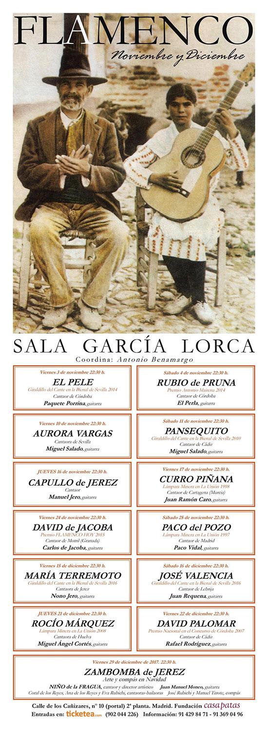 Cartel Noviembre-Diciembre 2017 - Sala García Lorca