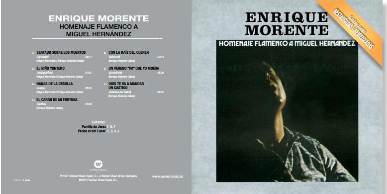 Enrique Morente canta a Miguel Hernández