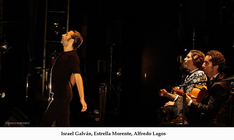 Israel Galván, Estrella Morente, Alfredo Lagos. foto Paco Manzano