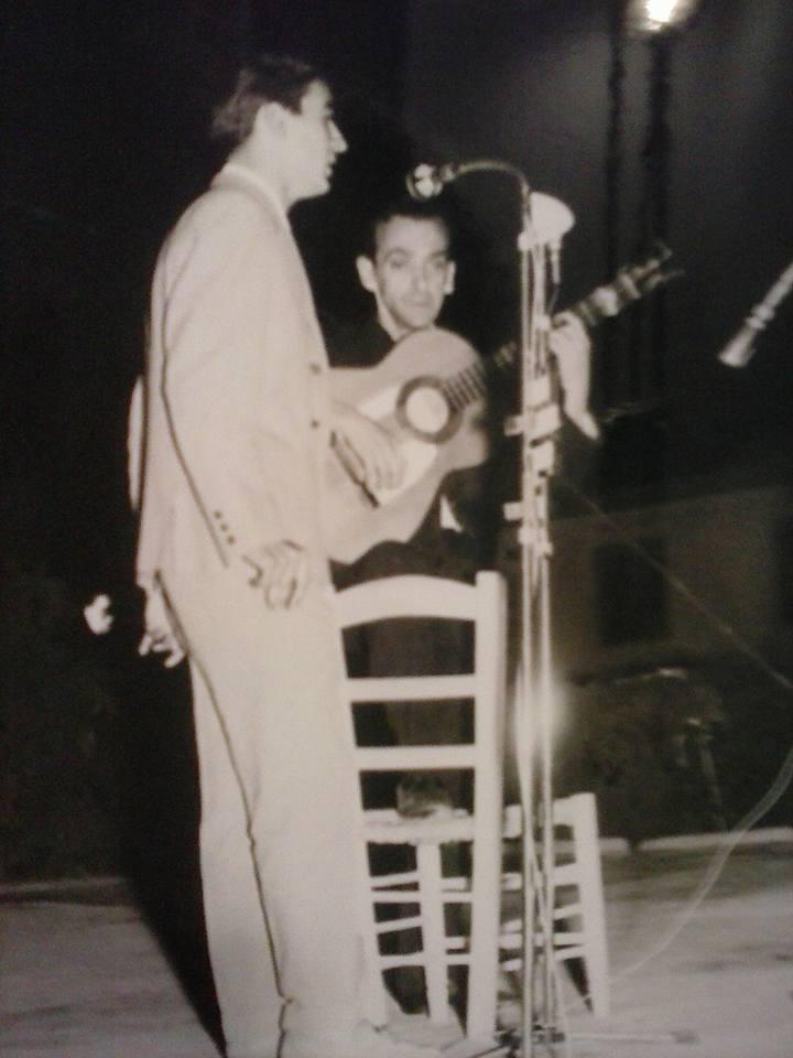 Calixto Sánchez en el Concurso de Cante Jondo Antonio Mairena - 1965