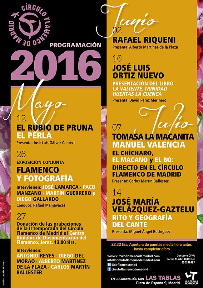 Programación Circulo Flamenco de Madrid