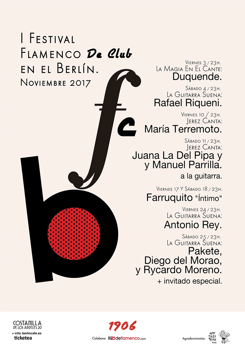 Cartel Festival Flamenco de Club