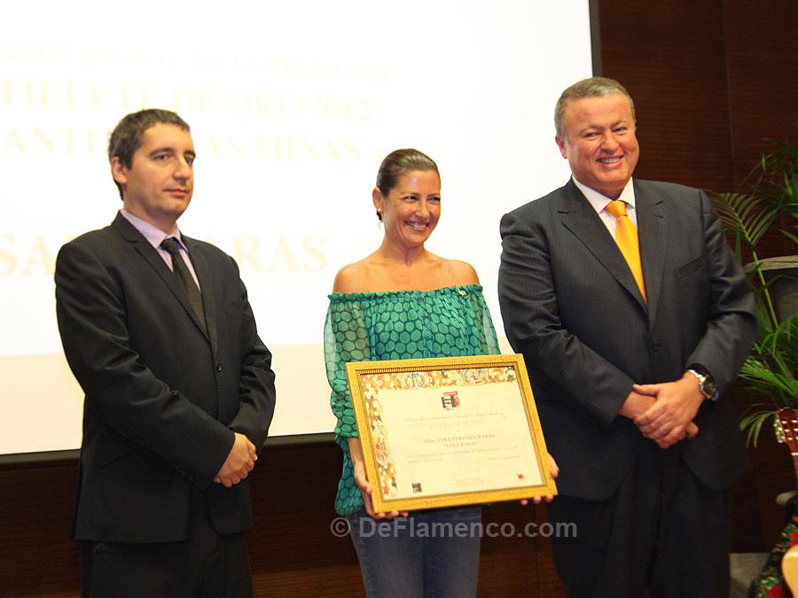 Sara Baras recibe el Castillete de Oro