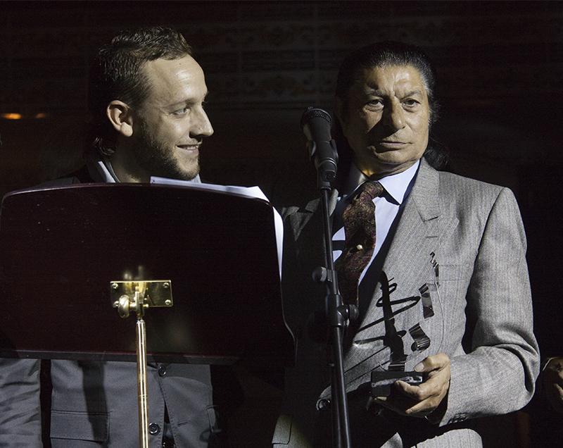 Manuel Liñán con Toni el Pelao, ¡que pareja de arte!