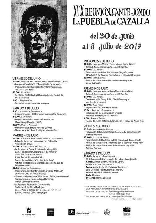 Reunión de Cante Jondo 2017 - Semana actividades