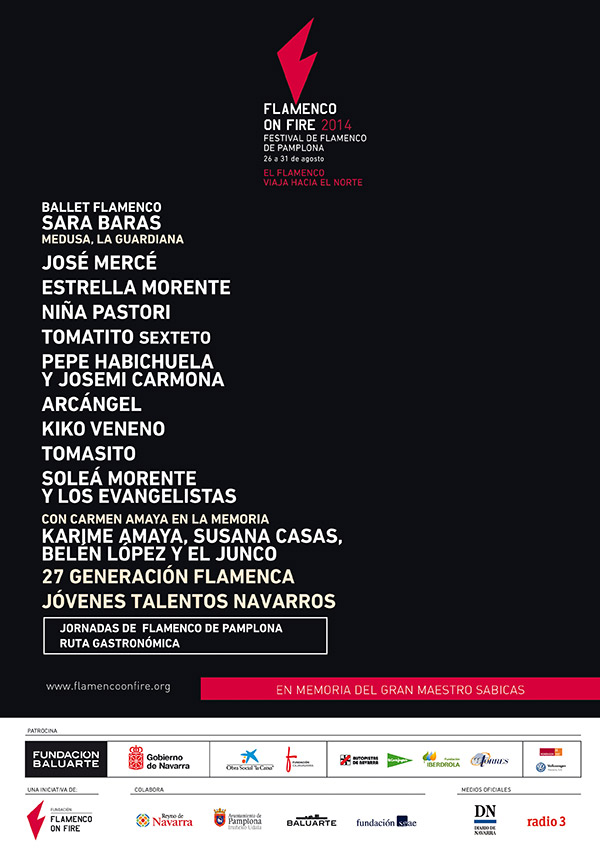 Cartel Flamenco on fire