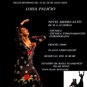 Intensivos de Flamenco Pilar Soto - Luisa Palicio