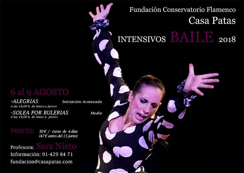 Intensivo Sara Nieto 2018 - Fundación Conservatorio Casa Patas