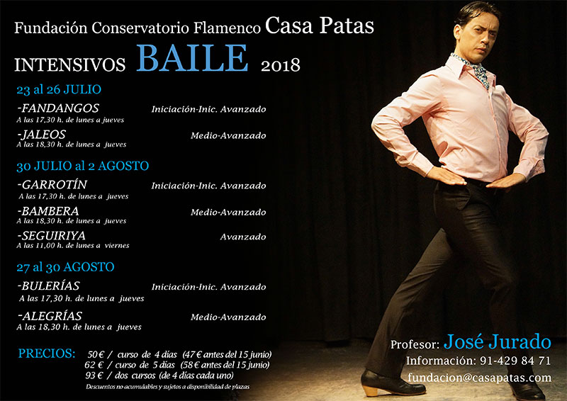 Intensivo José Jurado 2018 - Fundación Conservatorio Casa Patas