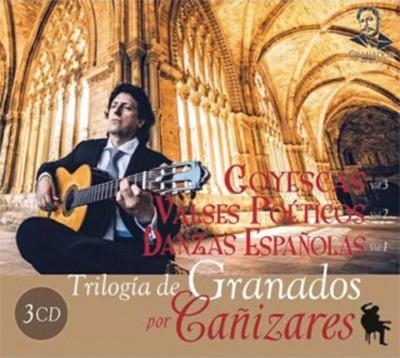 Trilogía de Granados por Cañizares. Danzas Españolas Vol 1, Valses Poéticos Vol 2, Goyescas Vol 3 (3CDs) – Juan Manuel Cañizares