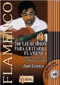 Juan Lorenzo –  200 EJERCICIOS PARA GUITARRA FLAMENCA – Partituras + CD