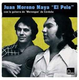 Juan Moreno Maya 'El Pele' con la guitarra de Merengue de Córdoba