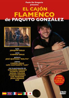 Paquito González –  El cajón flamenco de Paquito González – 2DVD + Partituras