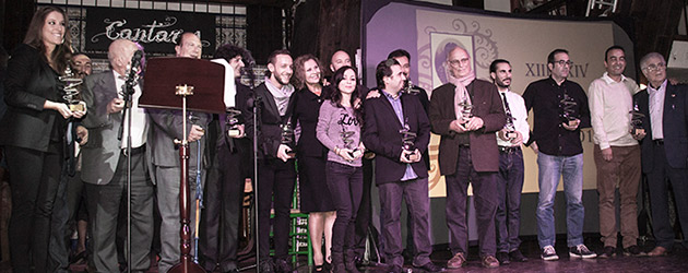 Awards ceremony of the Flamenco Hoy prizes