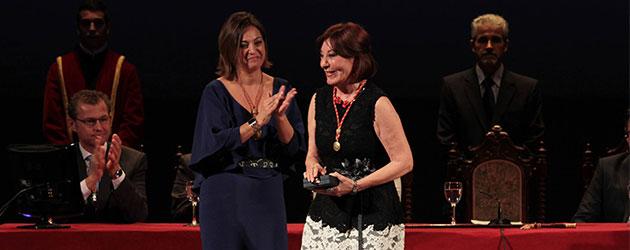 La bailaora y coreógrafa Blanca del Rey, Medalla de Oro de la ciudad de Córdoba