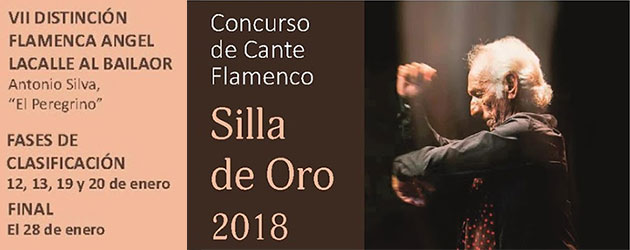 """Concurso de Cante Flamenco  """"Silla de Oro 2018"""""""