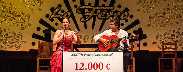 "La extremeña Esther Merino premio ""Melón de Oro"" en el Festival de Lo Ferro 2017"