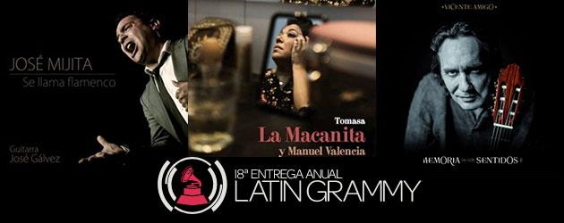 Nominaciones Latin Grammy Flamenco 2017