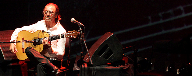 Homenaje a Pepe Habichuela en el Festival Flamenco on Fire 2015 de Pamplona