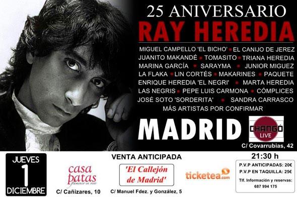 25 años sin Ray Heredia . Concierto Homenaje en Madrid