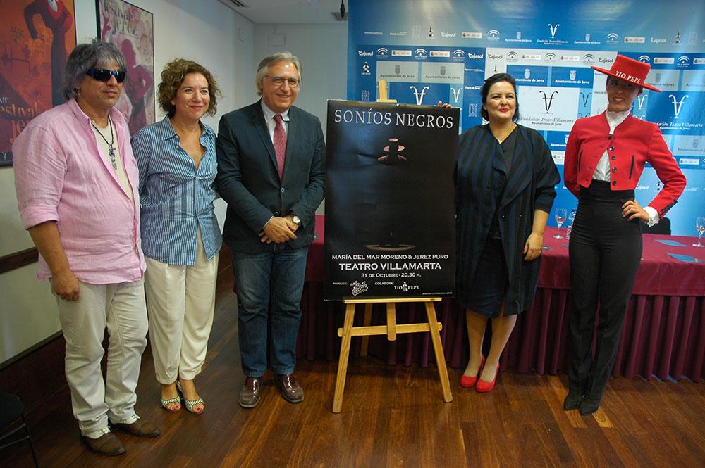 """María del Mar Moreno lleva sus """"Soníos Negros"""" al Teatro Villamarta de Jerez."""