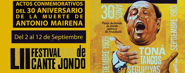 Commemorative acts for the 30th anniversary of Antonio Mairena's death
