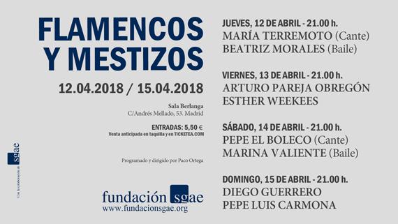Flamencos y Mestizos - Sala Berlanga