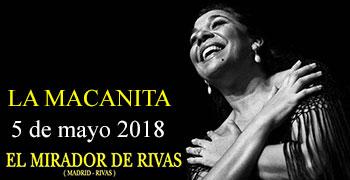 La Macanita en el Mirador de Rivas - Cena Flamenca