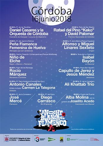Noche Blanca del Flamenco de Córdoba 2018