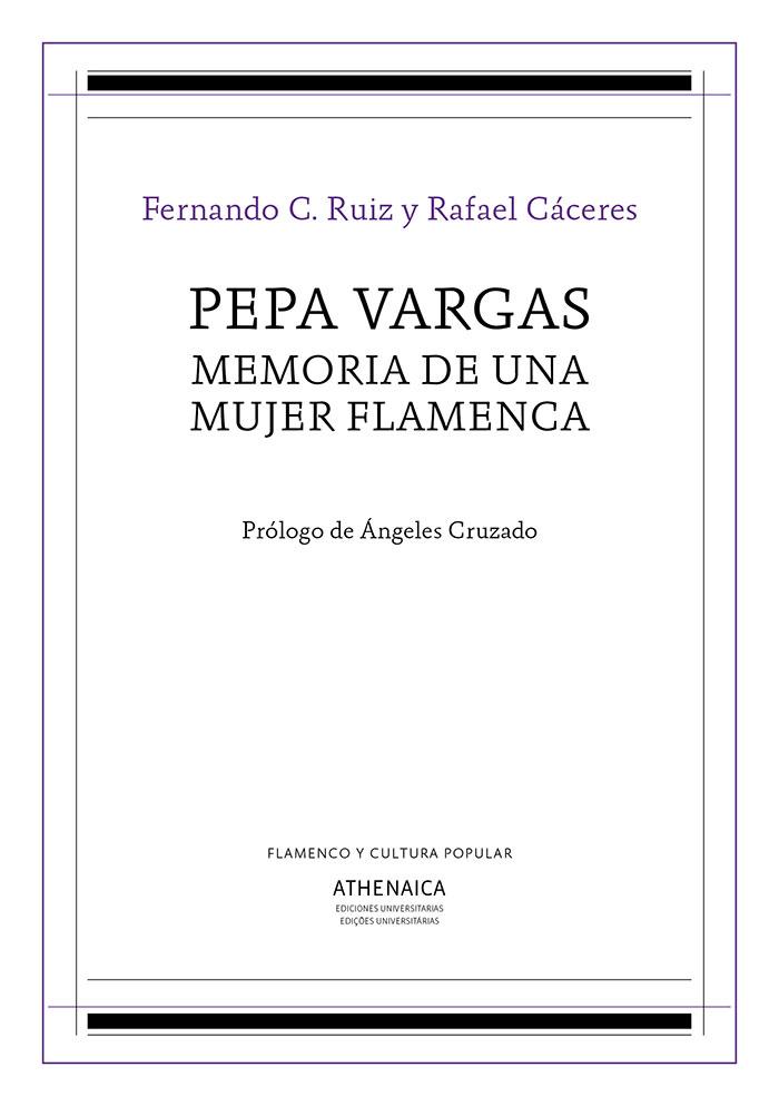 Pepa Vargas – Memoria de una mujer flamenca (libro)