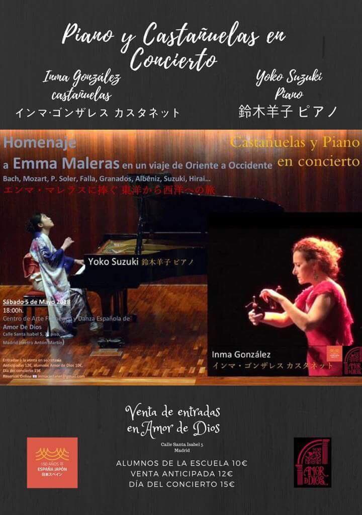 Piano y Castanuelas Amor-de-Dios