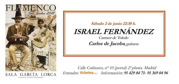 Tarjeta Israel Fernandez San Isidro Flamenco