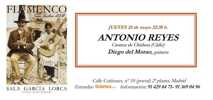 Tarjeta Antonio Reyes - San Isidro Flamenco 2018