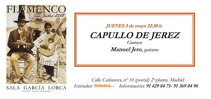 Tarjeta Capullo de Jerez - San Isidro Flamenco 2018
