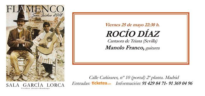 Tarjeta Rocio Diaz - San Isidro Flamenco 2018