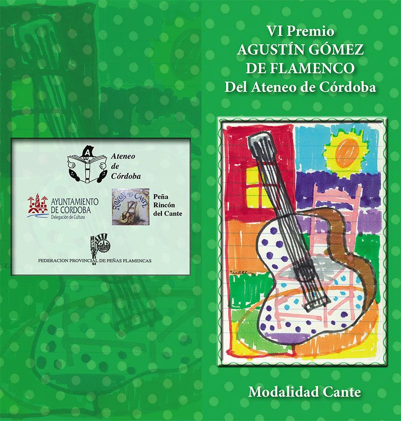 VI Premio Agustin Gómez de Flamenco. Bases.