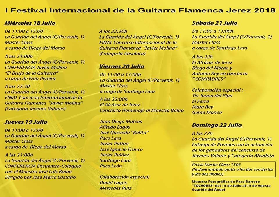 I Festival Internacional de la Guitarra Flamenca de Jerez