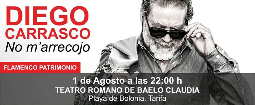 Diego Carrasco en el Teatro Romano de Baelo Claudia