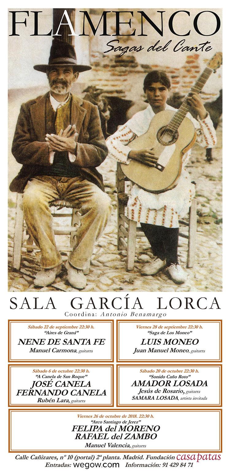 Sagas del Cante 2018 - Sala García Lorca de Madrid