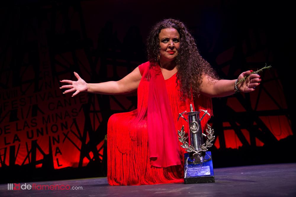 María José Carrasco en el Cante de las Minas 2018