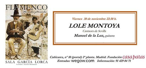 Lole Montoya - Sala García Lorca