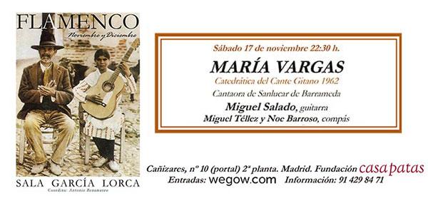 María Vargas - Sala García Lorca