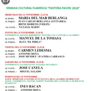 Semana Flamenca Pastora Pavón