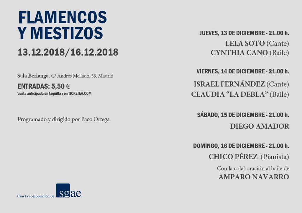 FLAMENCOS Y MESTIZOS Sala Berlanga