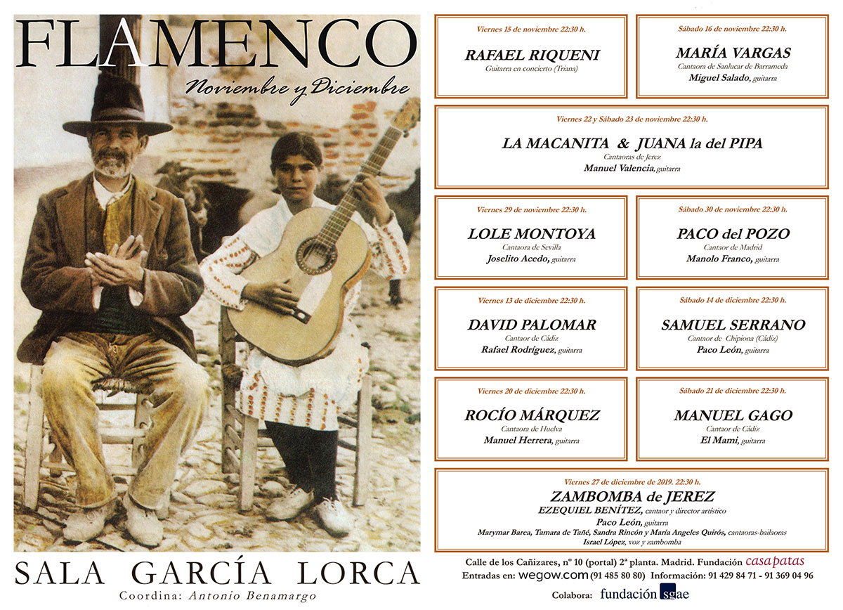 Noviembre & Diciembre - Sala García Lorca