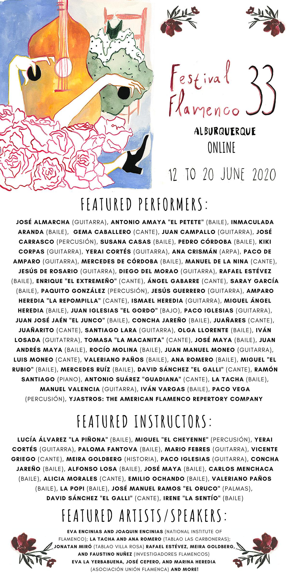 Festival Flamenco ALBURQUERQUE 33 - online