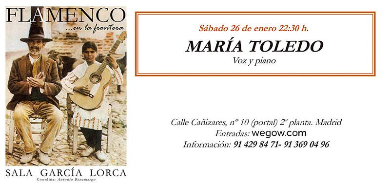 María Toledo - Flamenco en la Frontera - Sala García Lorca