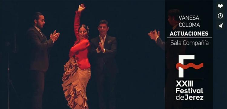 Vanesa Coloma en el Festival de Jerez (video)